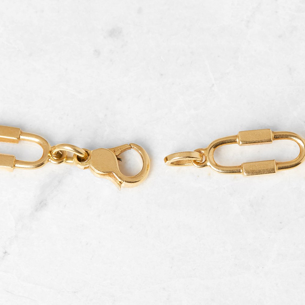 Cartier 18k Yellow Gold Lapis Lazuli & Diamond Necklace