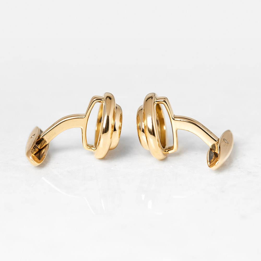 Chopard 18k Yellow Gold Happy Diamonds Cufflinks