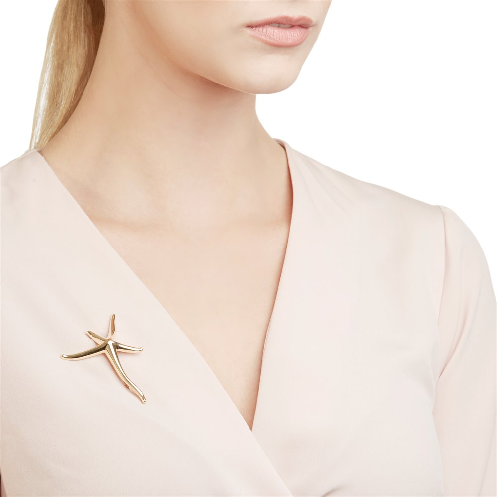 2dfbde48c Tiffany & Co. 18k Yellow Gold Starfish Elsa Peretti Brooch COM1180 ...