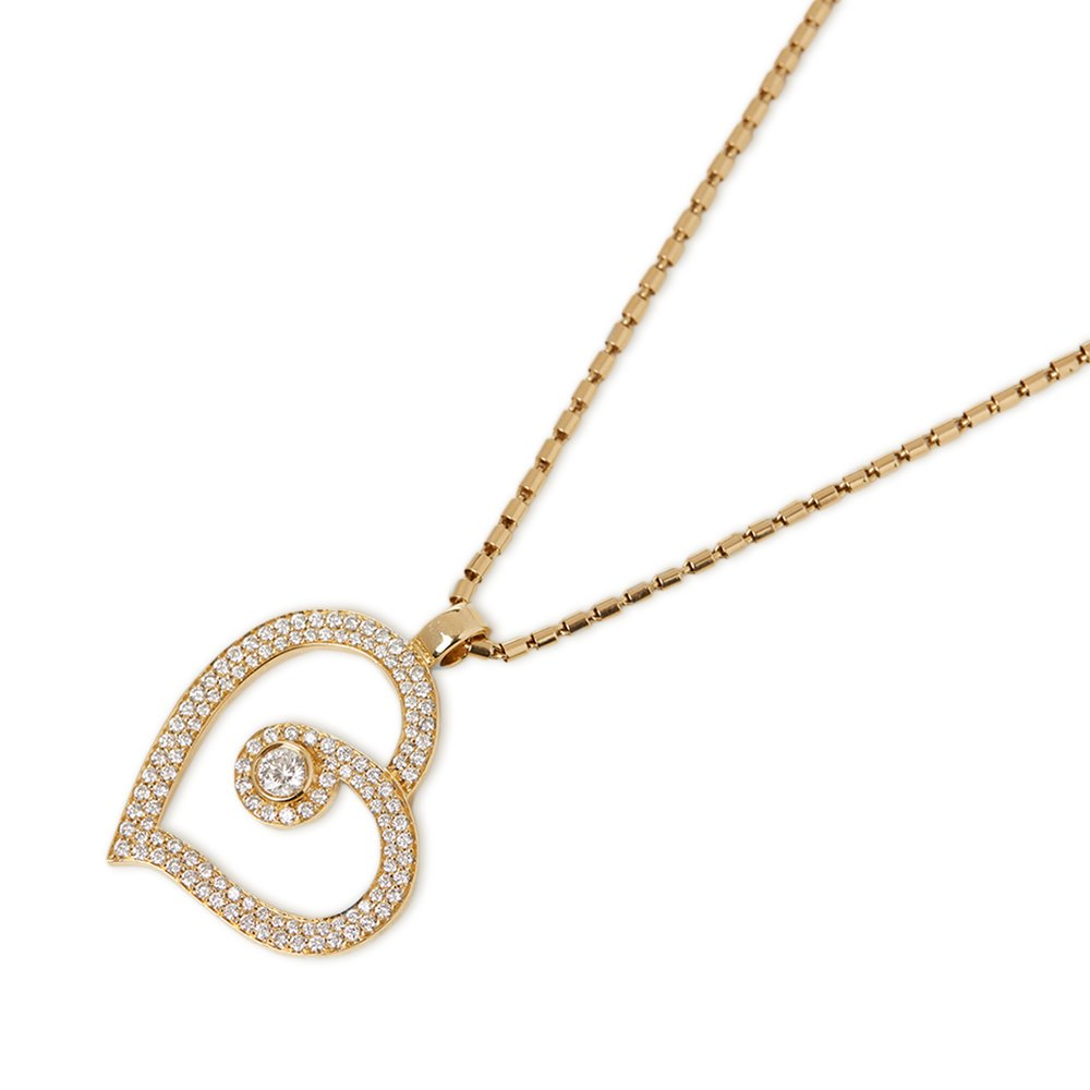 Roberto Coin 18k Yellow Gold Diamond Heart Necklace