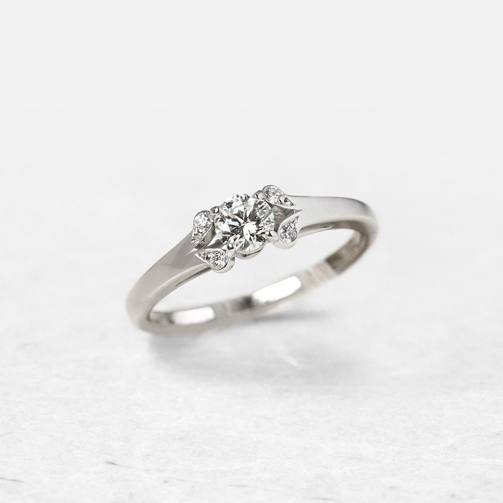a6072b7749b40 Platinum 0.32ct Diamond Ballerine Engagement Ring