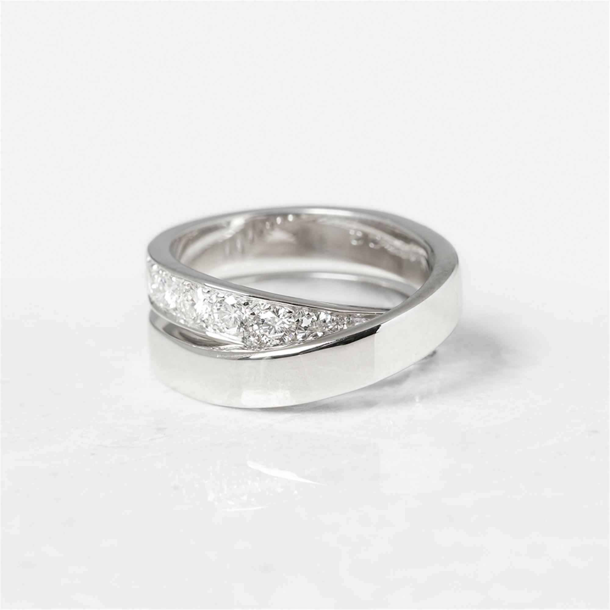 Cartier 18k White Gold Diamond Crossover Paris Nouvelle Vague Ring
