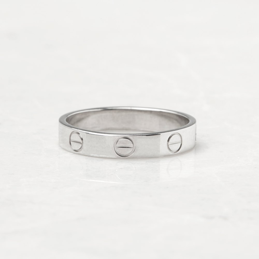 Cartier 18k White Gold Mini Love Ring Size M