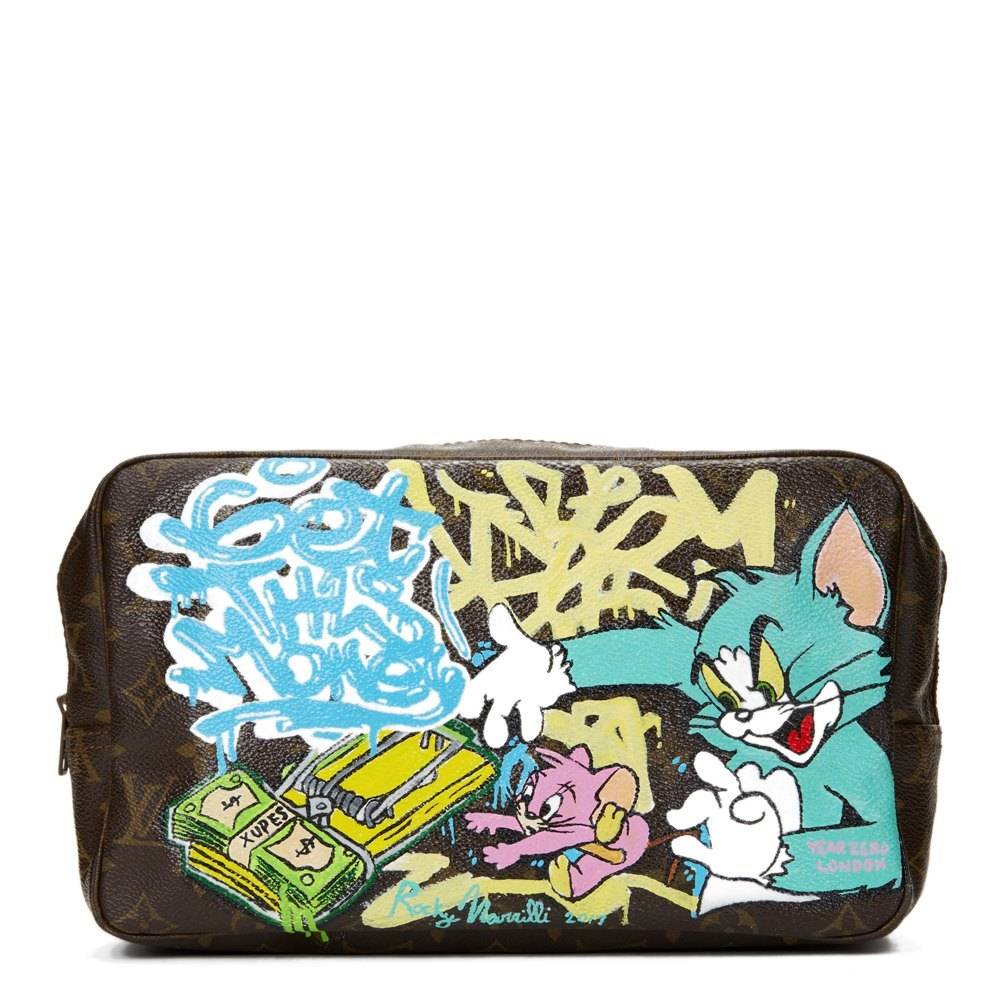 Louis Vuitton Hand-painted 'Get This Money' Xupes X Year Zero London Toiletry Pouch