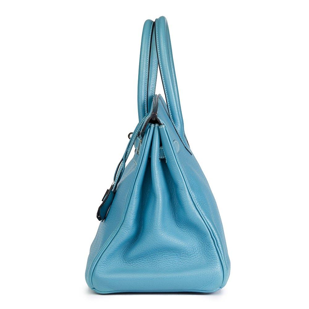 d8f94c8c4f1e Hermès Blue Jean Fjord Leather Birkin 35cm