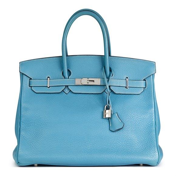 Hermès Blue Jean Fjord Leather Birkin 35cm