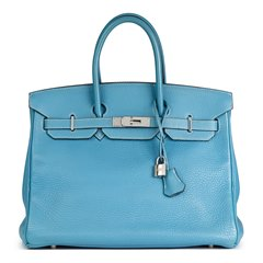 Hermès Blue Jean Fjord Leather Birkin 35cm