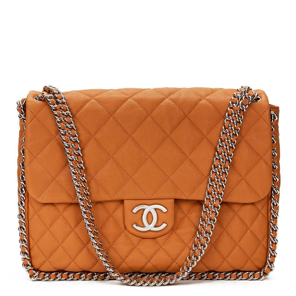 4d5a6e9a5da344 Chanel Chain Around Maxi Flap Bag 2010's HB1278 | Second Hand Handbags
