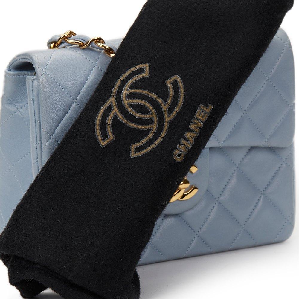798e09e753b9 Chanel Sky Blue Quilted Lambskin Vintage Mini Flap Bag