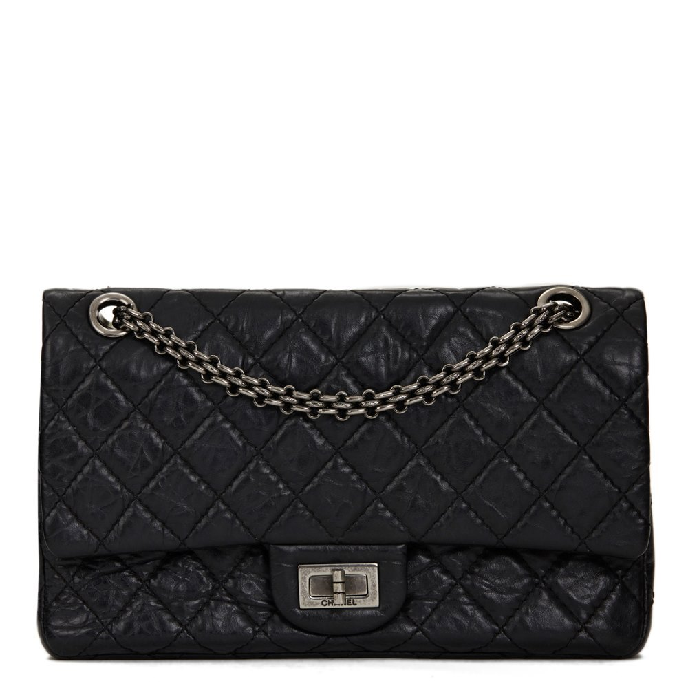 9fe3074ad7e1e7 Chanel 2.55 Reissue 225 Double Flap Bag 2009 HB1309 | Second Hand ...