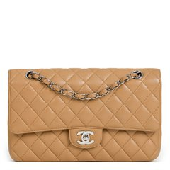 Chanel Mocha Quilted Caviar Leather Medium Classic Double Flap Bag
