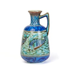 BURMANTOFTS FAIENCE ANGLO PERSIAN LEONARD KING VASE c.1895
