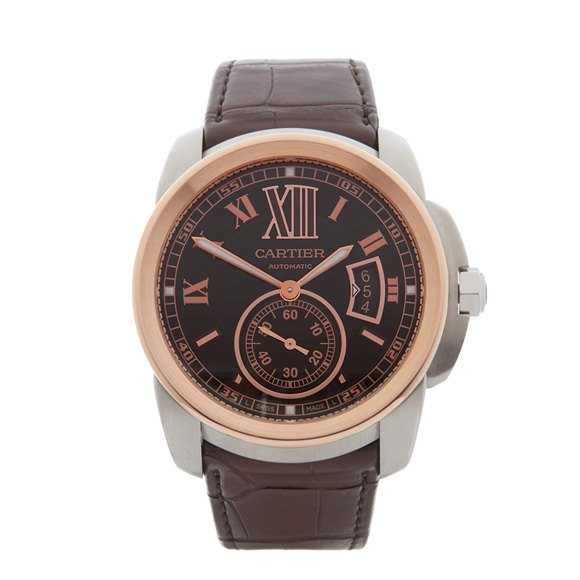 Cartier Calibre Stainless Steel & Rose Gold - W7100051