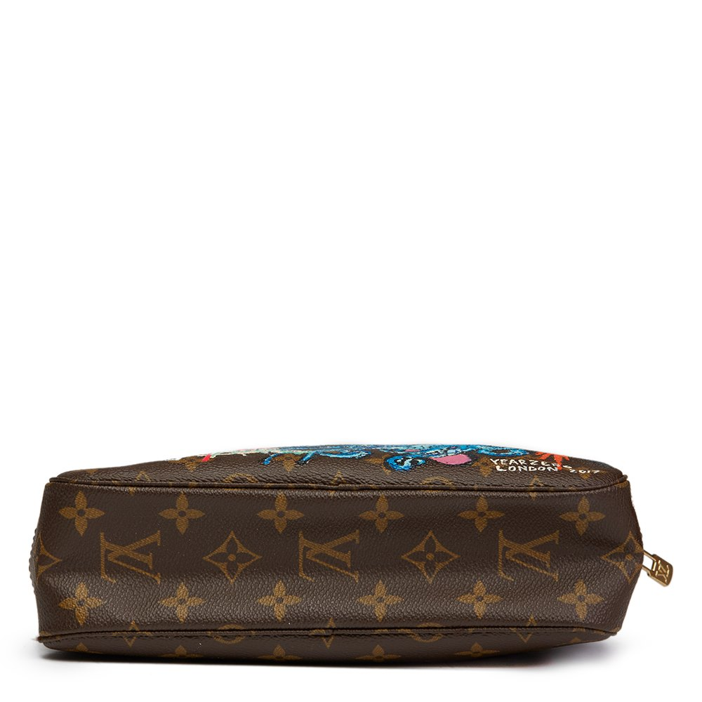 Louis Vuitton Hand-painted 'Sick of it all' Xupes X Year Zero London Toiletry Pouch