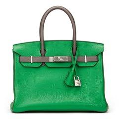 Hermès Bambou & Etain Togo Leather Special Order Birkin 30cm