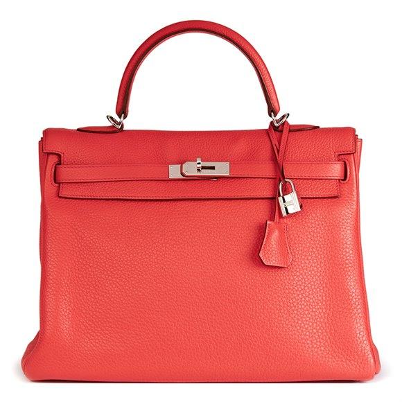 Hermès Bougainvillier Togo Leather Kelly 35cm Retourne