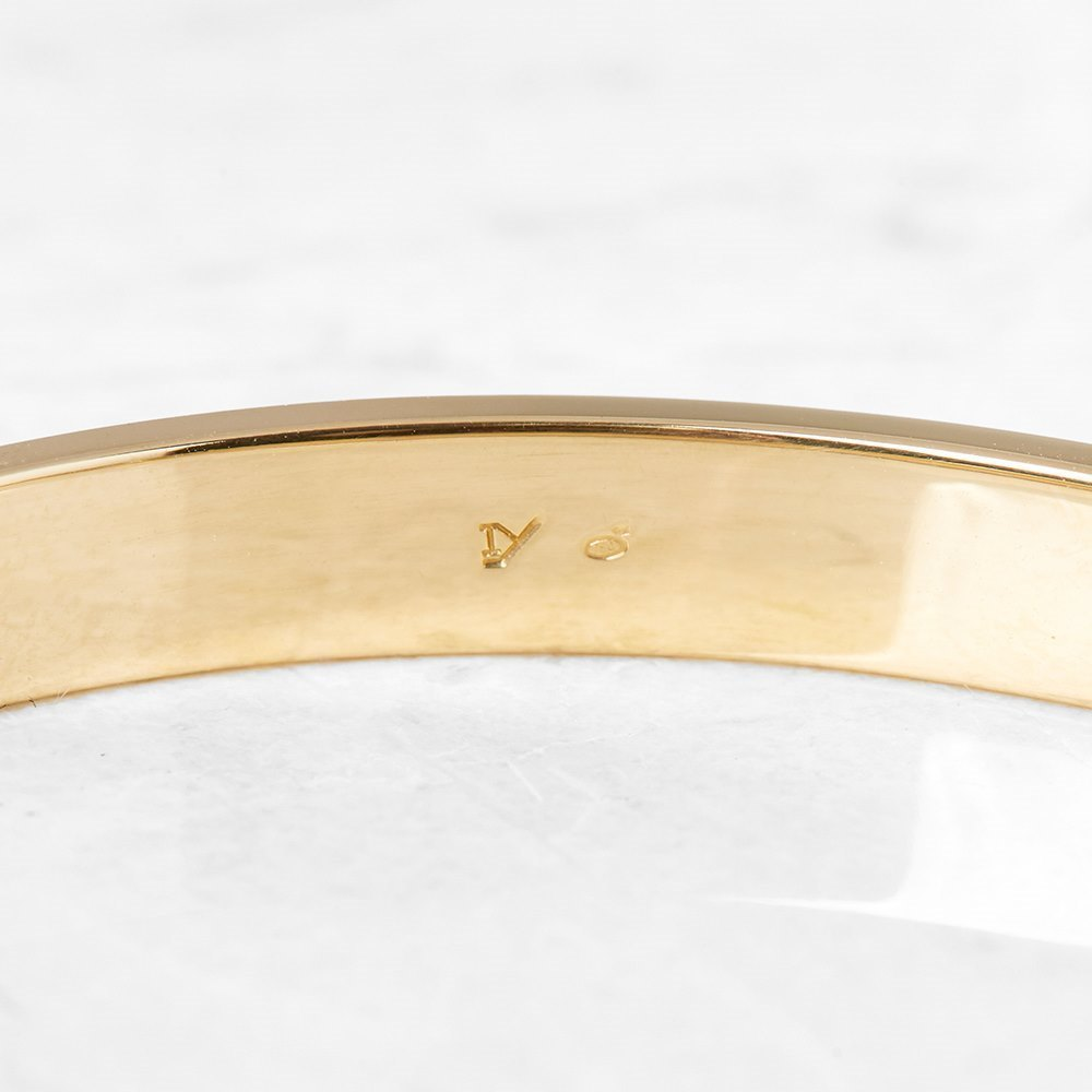 Cartier 18k Yellow Gold Love Bracelet Size 17