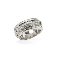 Piaget 18k White Gold Diamond Possession Ring