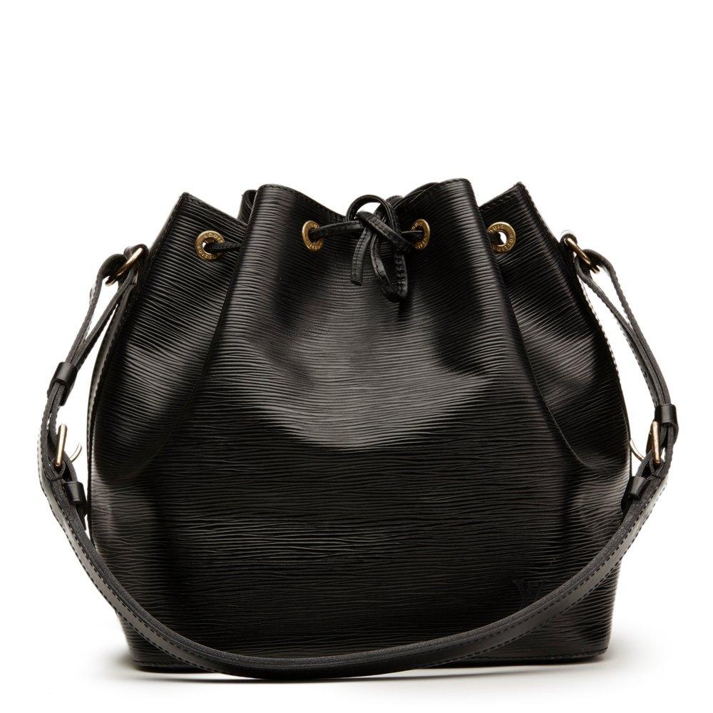 44e8283c351d Louis Vuitton Black Epi Leather Vintage Petit Noé