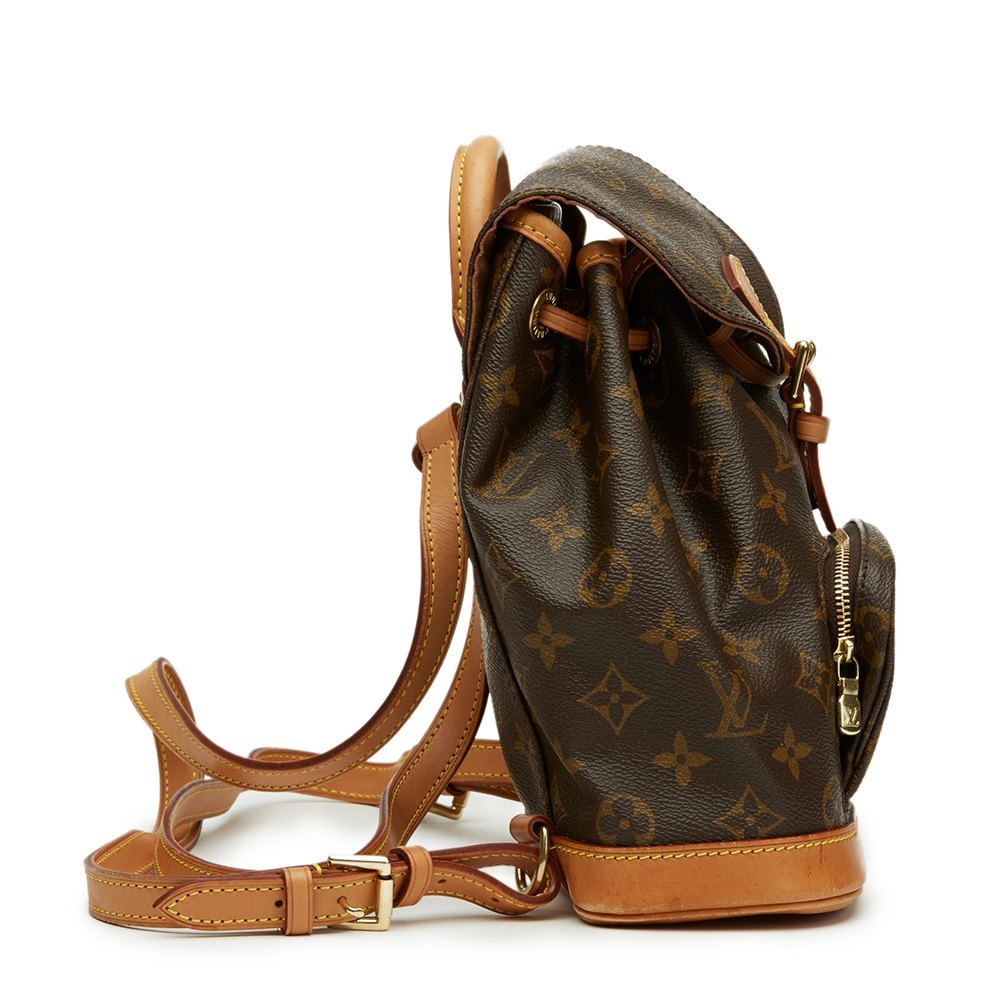 e61d9f2fb149 Louis Vuitton Brown Coated Monogram Canvas Mini Montsouris Backpack