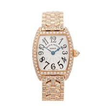 Franck Muller Cintree Curvex Afterset Diamond 18K Yellow Gold - 2251QZ