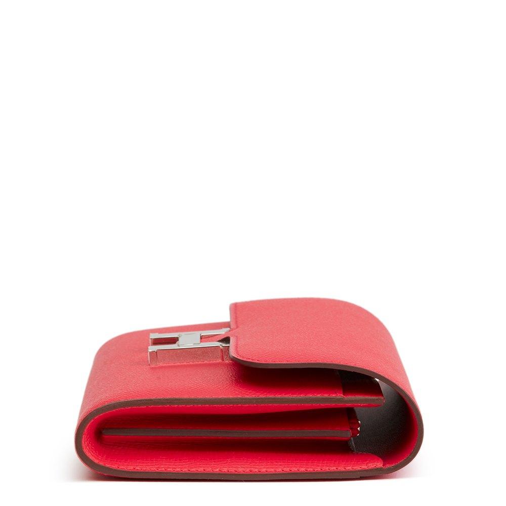 95d012a09d6e Hermès Rose Extreme Epsom Leather Constance Long Wallet