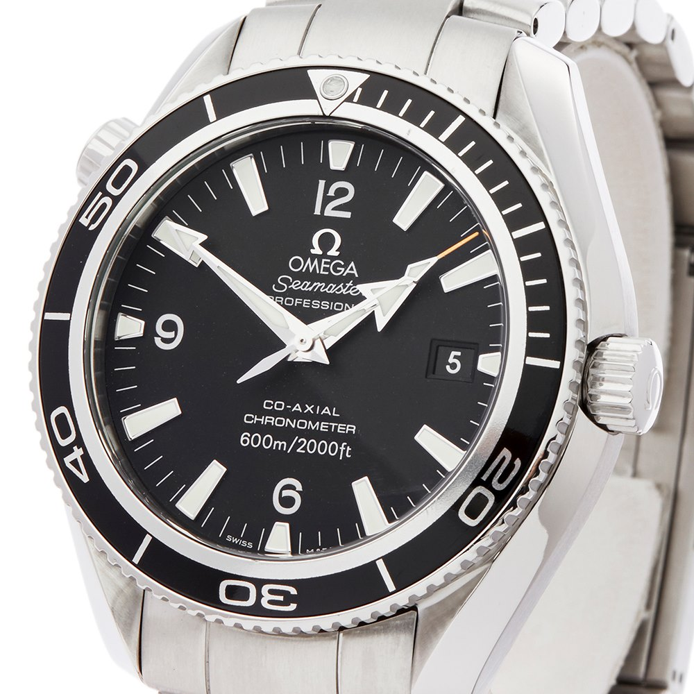 stainless watch gmt details omega watches ocean second gents men steel owned mens seamaster hand product planet pre s