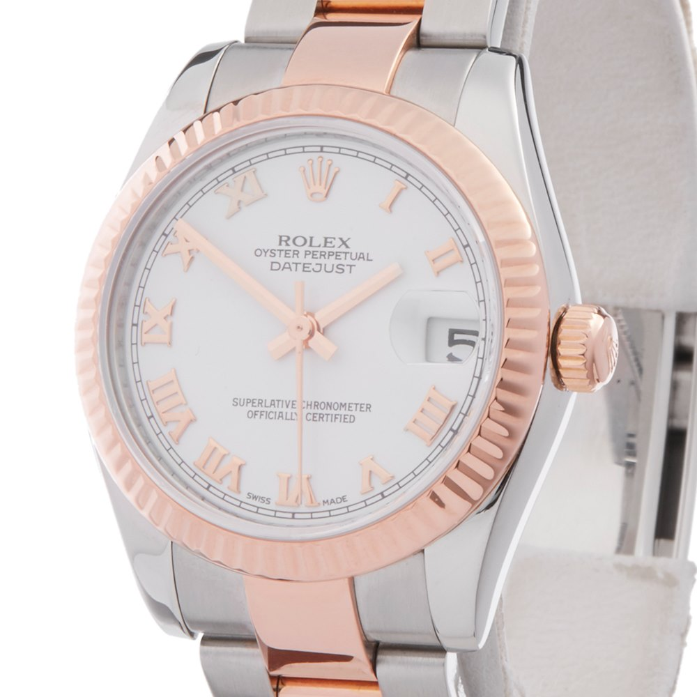 Datejust 31 Stainless Steel 18k Rose Gold 178271