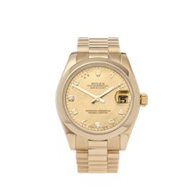 Rolex Datejust 31mm 18K Yellow Gold - 178248
