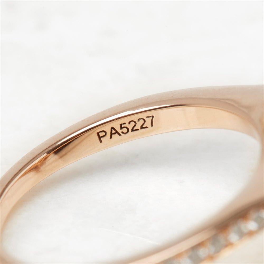 Cartier 18k Rose Gold Smoky Quartz & Diamond Lotus Ring