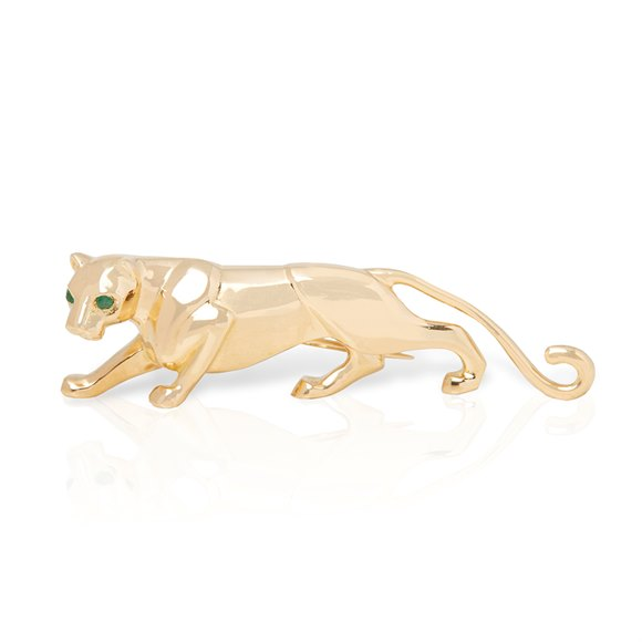 Cartier 18k Yellow Gold Panthère Brooch