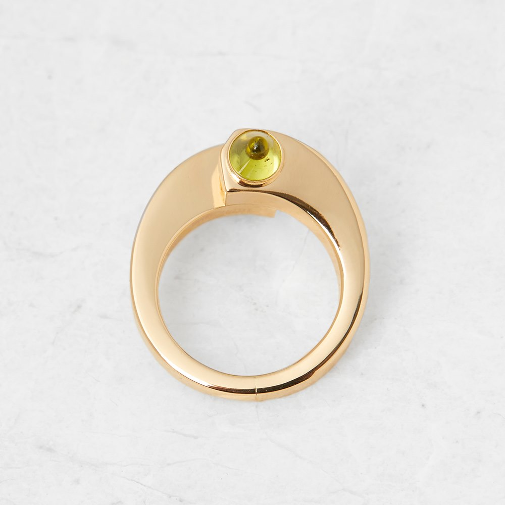 Cartier 18k Yellow Gold Peridot Menotte Ring