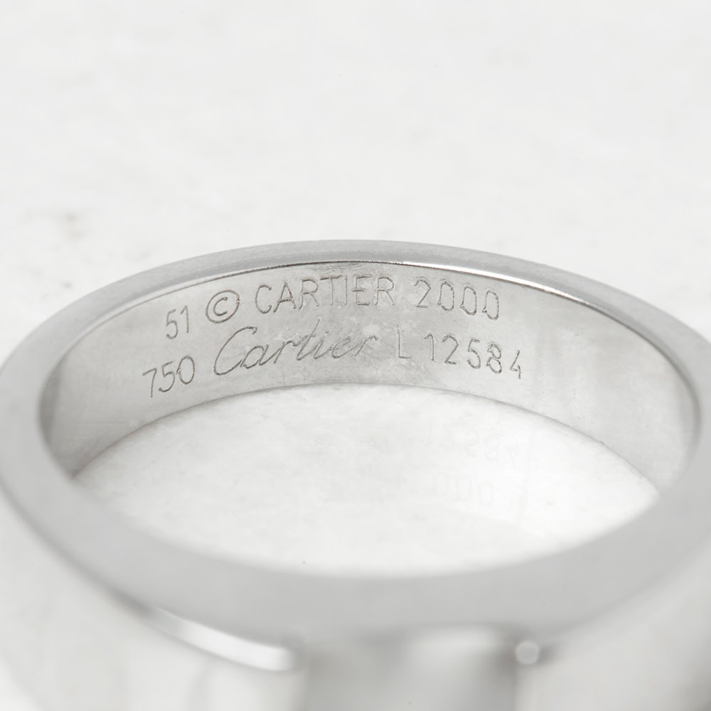 Cartier 18k White Gold Moonstone Tank Ring