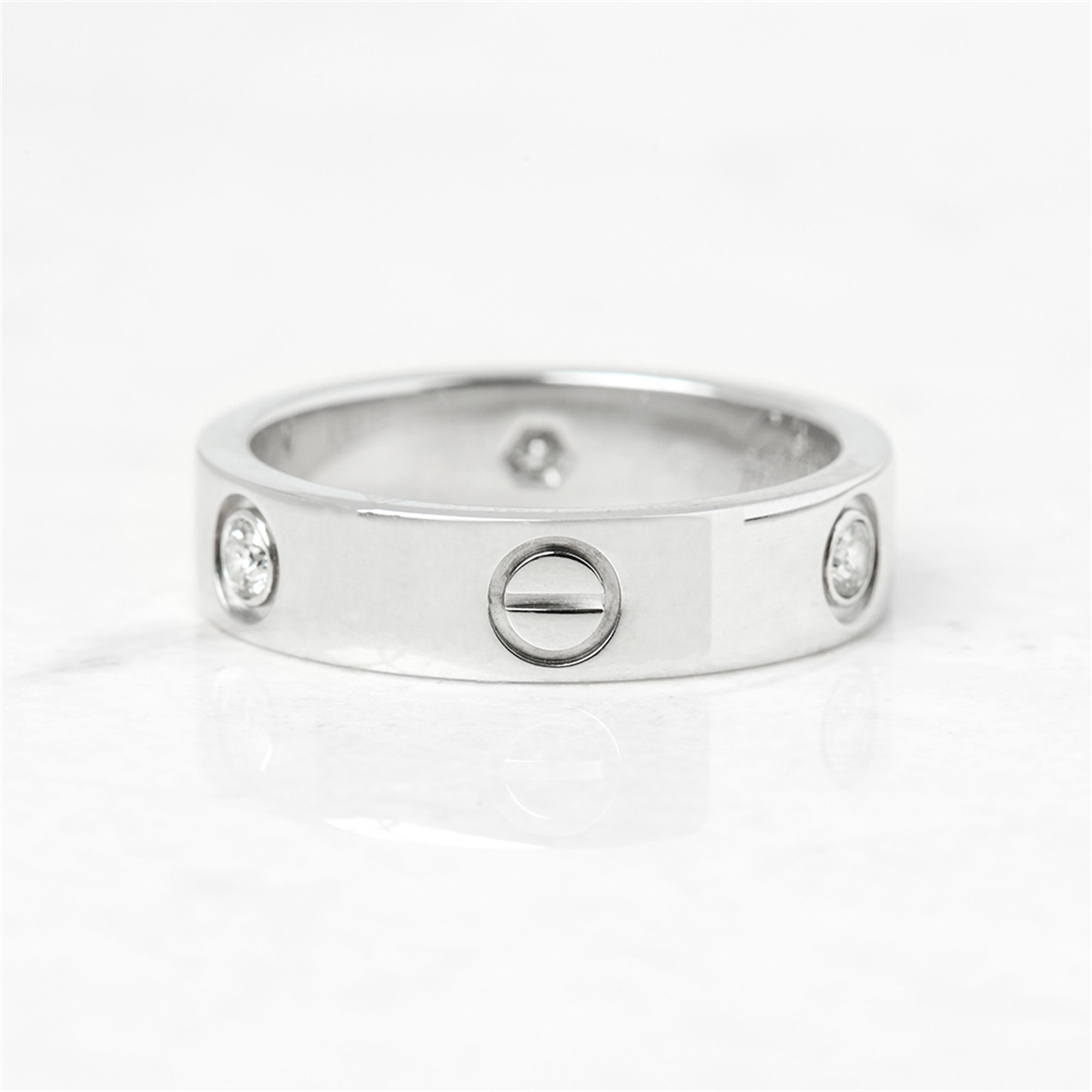 Cartier 18k White Gold 3 Diamond Love Ring
