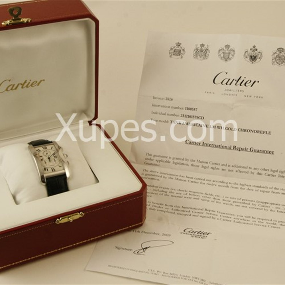 Cartier Tank Americaine 18k White Gold