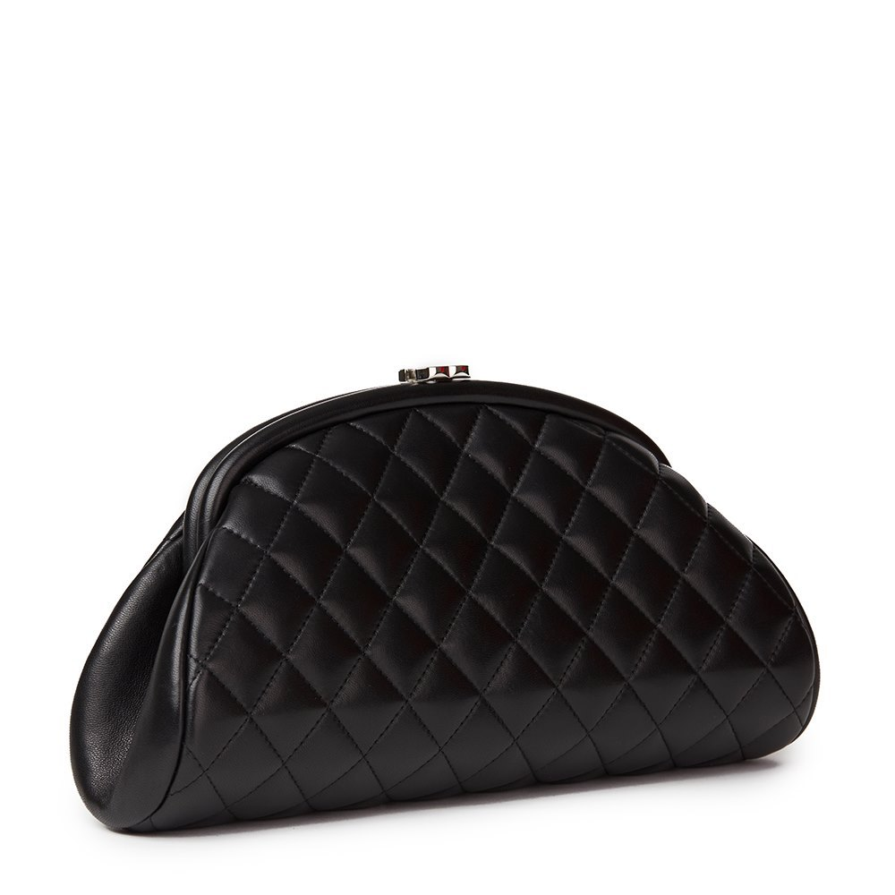 31efe72d148f Chanel Black Quilted Lambskin Timeless Clutch
