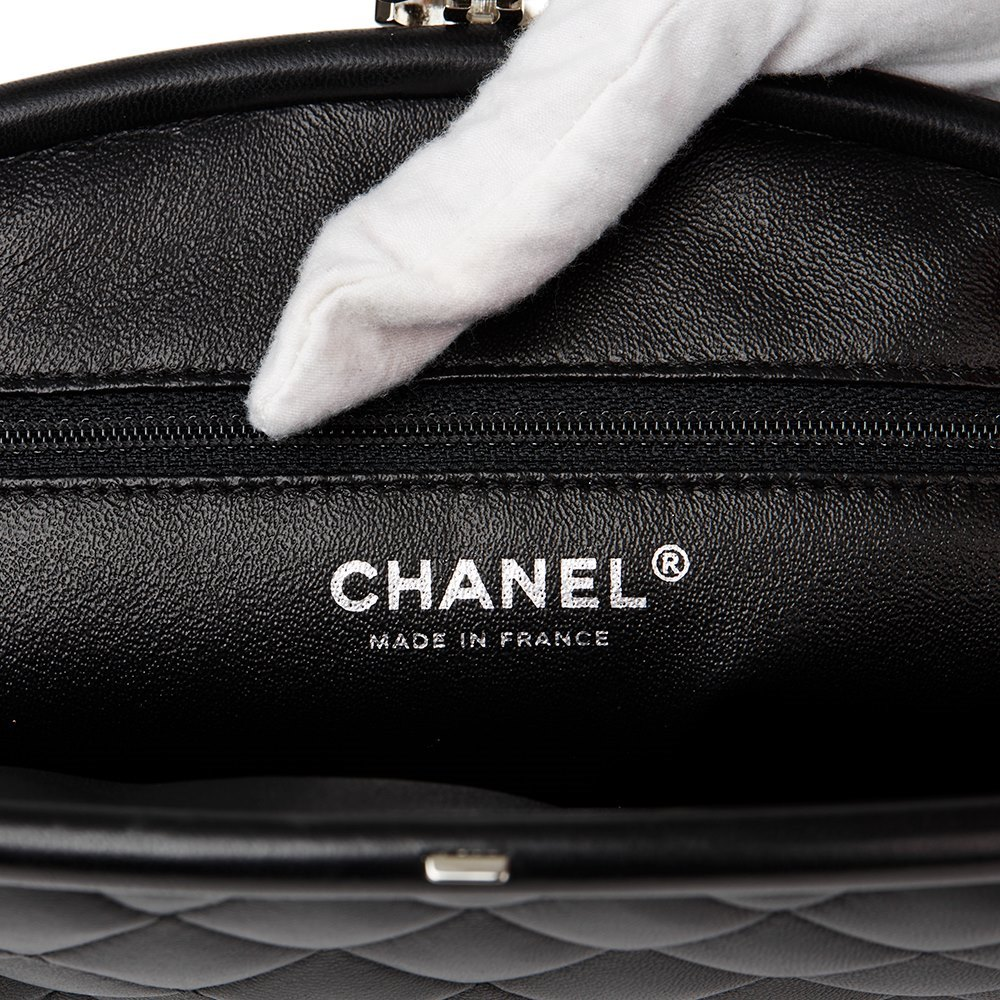 cf5aae6fe3a8 Chanel Black Quilted Lambskin Timeless Clutch