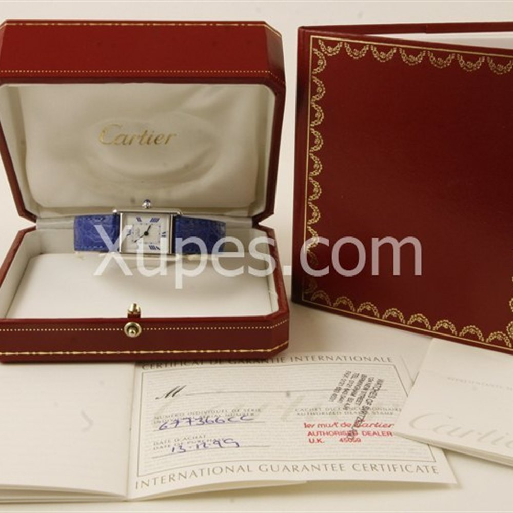 Cartier Must De Cartier 18k white gold plated on 925 silver *********