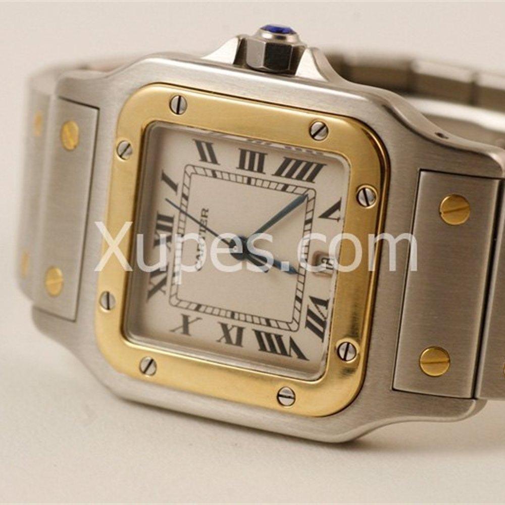 Cartier Santos Stainless Steel/18K Yellow Gold Bezel *********