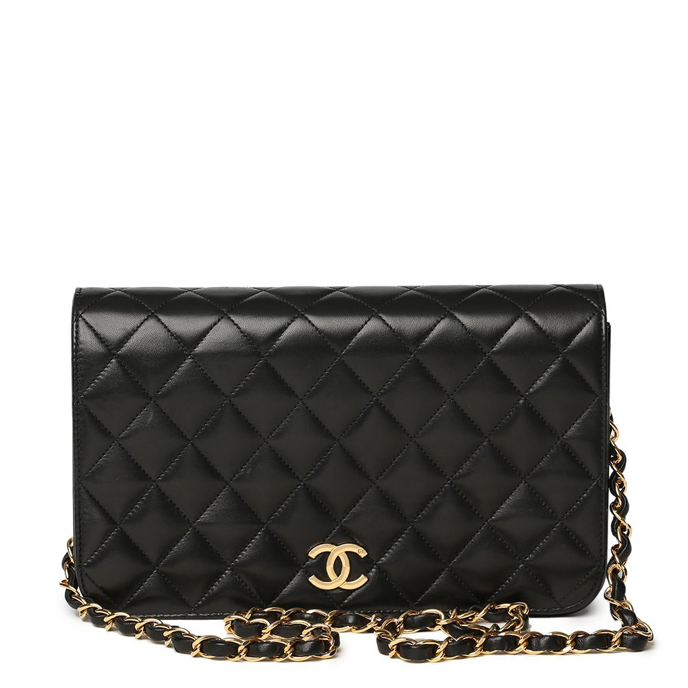 d7e75b1841e97d Chanel Black Quilted Lambskin Vintage Small Classic Single Full Flap Bag