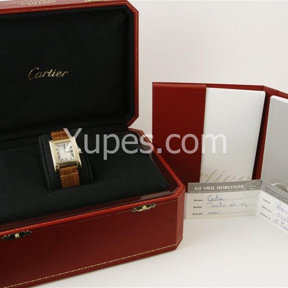 Cartier Tank A Vis 18k Yellow Gold