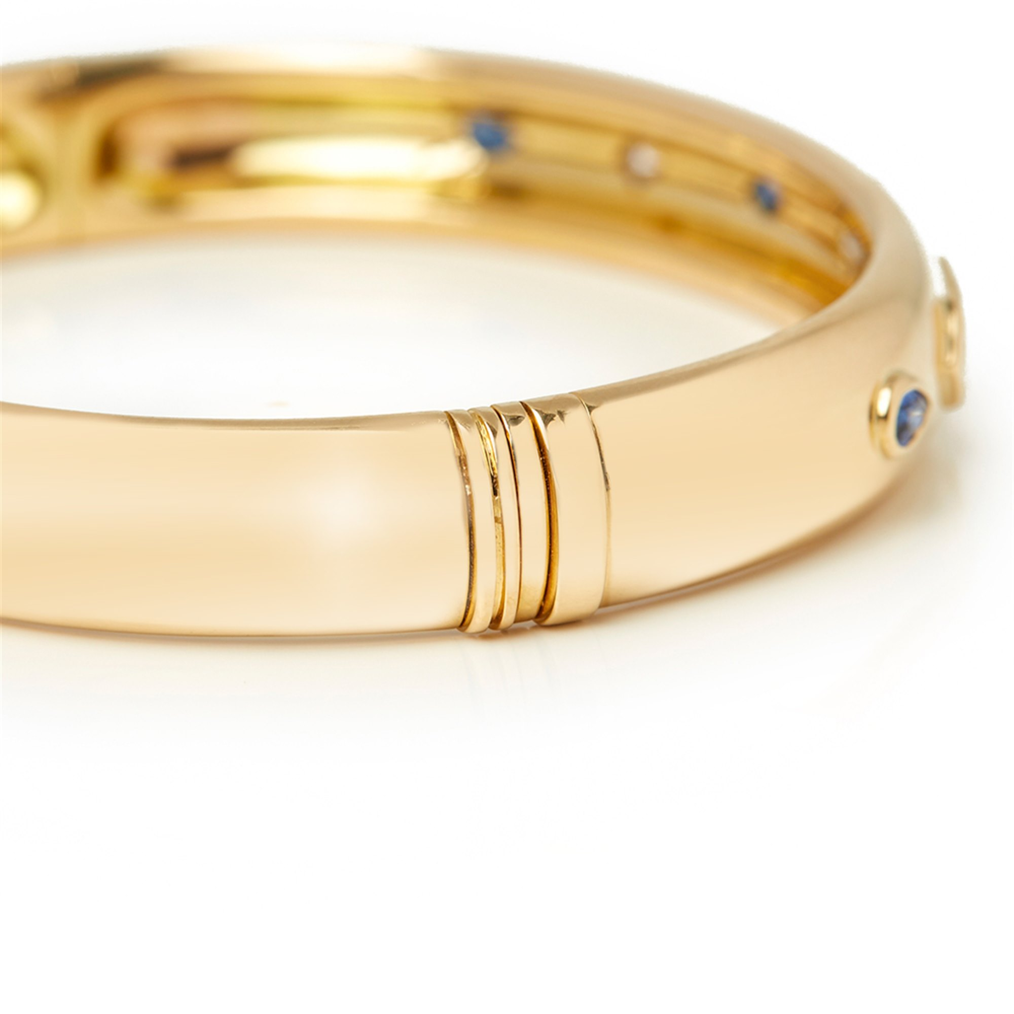 Cartier 18k Yellow Gold Sapphire & Diamond Must De Cartier Bracelet