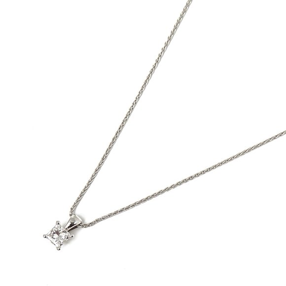 Mappin & Webb Platinum 0.70ct Princess Cut Diamond Necklace