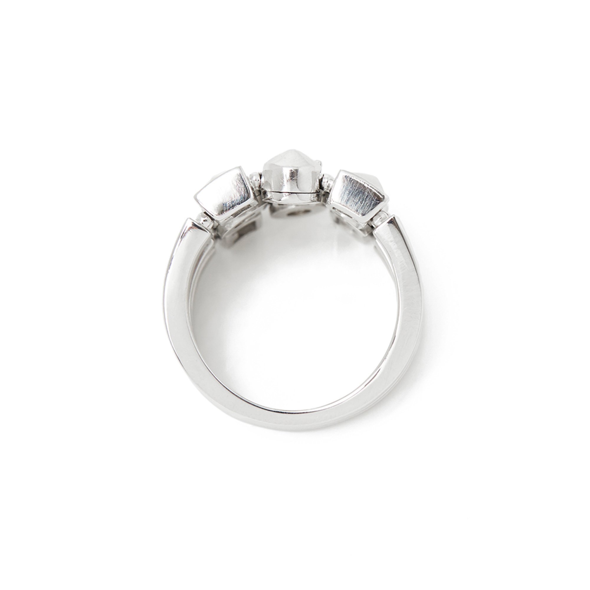 Bulgari 18k White Gold Diamond Lucéa Ring