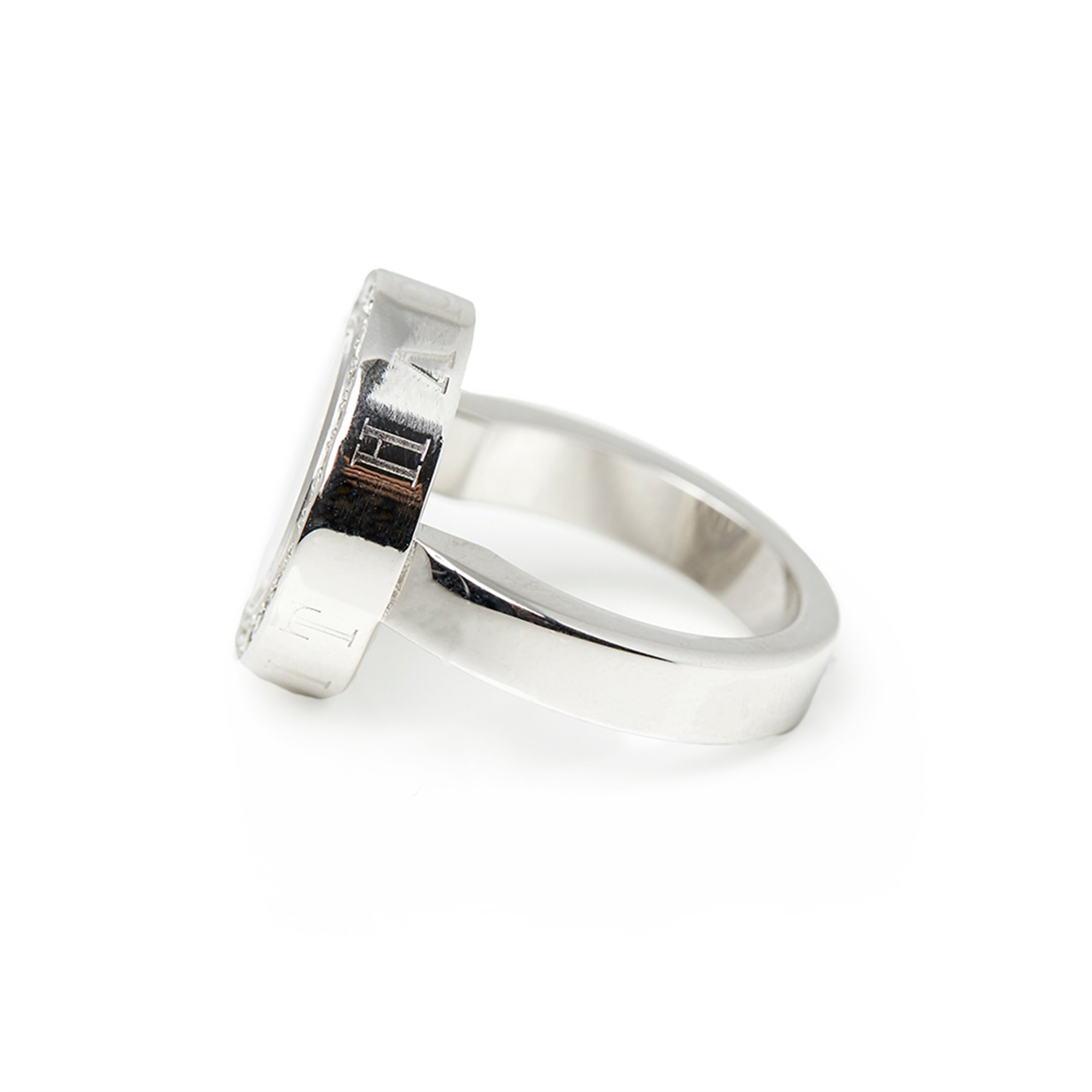 Chopard 18k White Gold Diamond Happy Spirit Ring