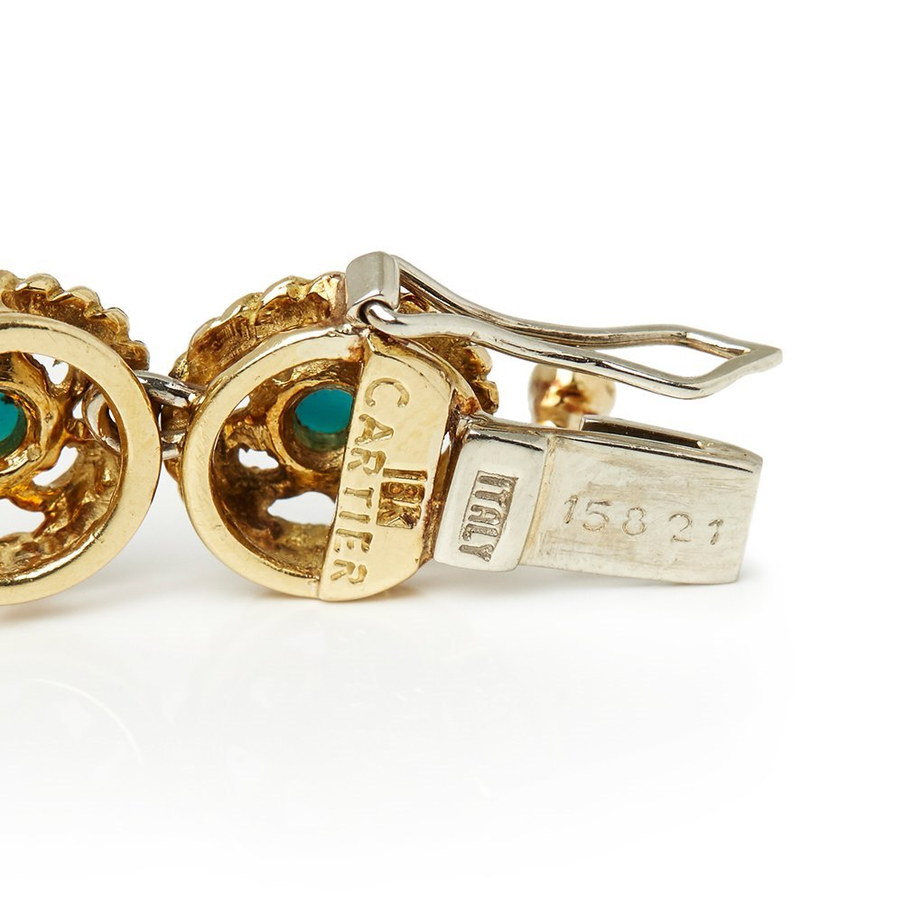 Cartier 18k Yellow Gold Turquoise Bracelet