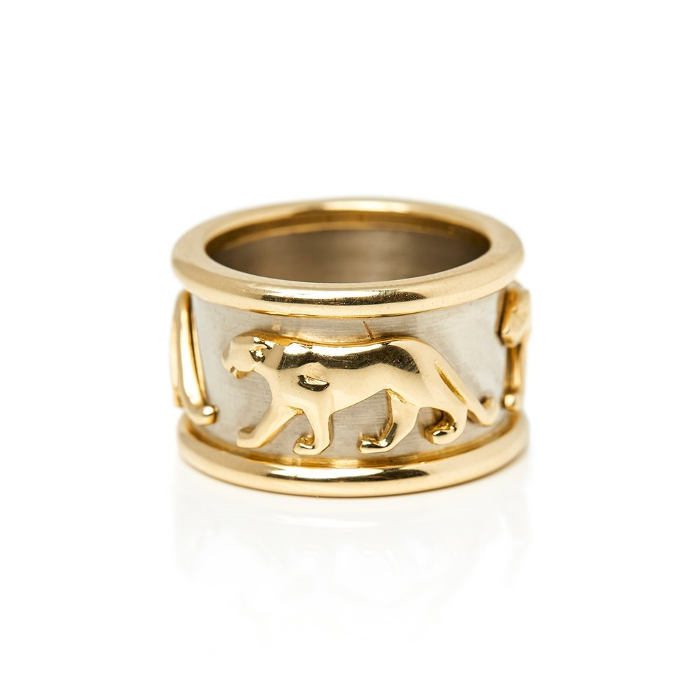 Cartier 18k Yellow & 18 White Gold Panthère Ring