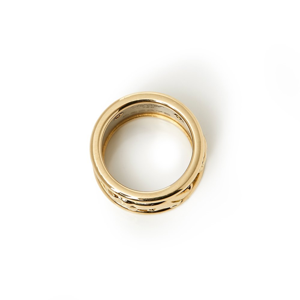 Cartier 18k Yellow & 18k White Gold Panthère Ring