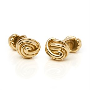 Tiffany & Co. 18k Yellow Gold Knot Cufflinks