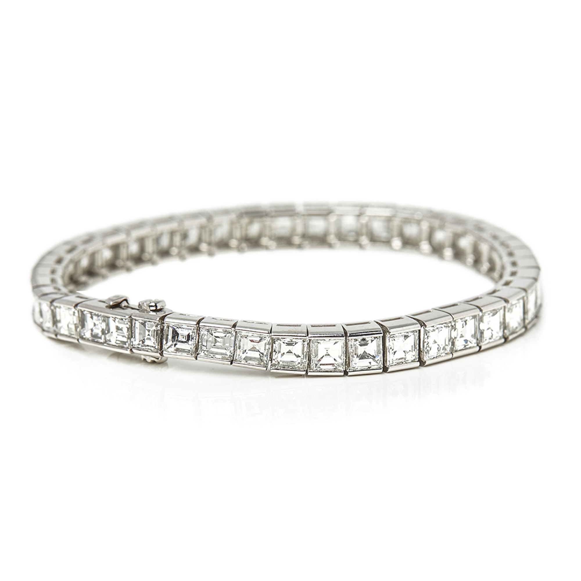 Cartier Platinum Emerald Cut Diamond